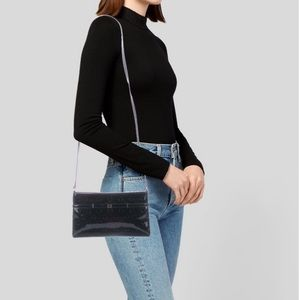 Kate Spade Camellia Black Patent Leather Crossbody